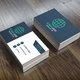 بطاقة عمل بتصميم بسيط