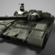 t-90 tank low poly  + texture