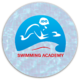 شعار اكادمية سباحة + تغليف واجهة المكتب