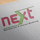 logo for (next) page for web design