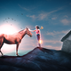 The Girl and the horse