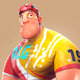 Cyclist 3D character