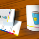 business cards and mug
