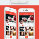 InstaFlat IOS 8 Mobile App UI Design