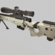 sniper AWM Low Poly