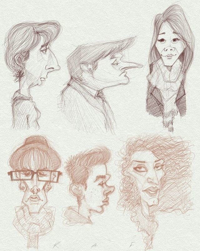 People of the Train - Character Design & Caricatures