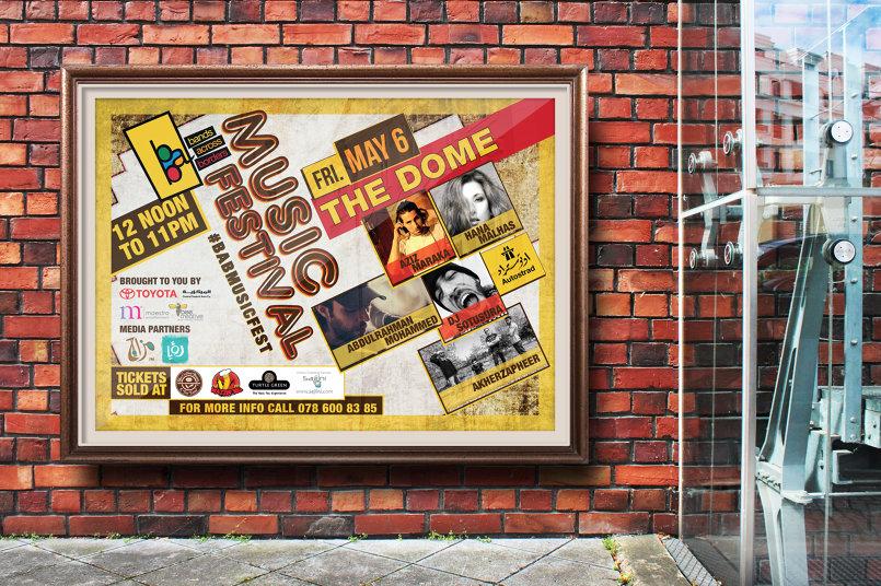 BAB Music Festival I Horizontal poster