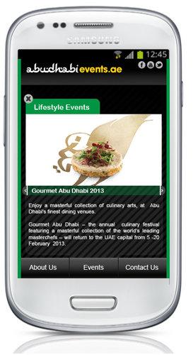 Abu Dhabi Events Application