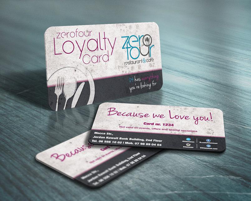 ZeroFour Loyalty Cards