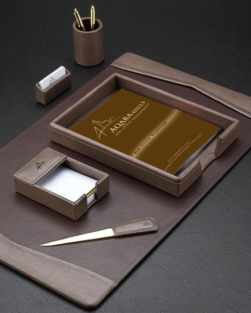 Leather Desktop Set