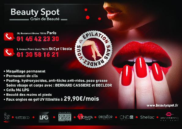 Beauty Spot Flyer Recto