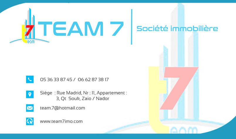فلاير و بطاقة عمل لشركة team7 العقارية