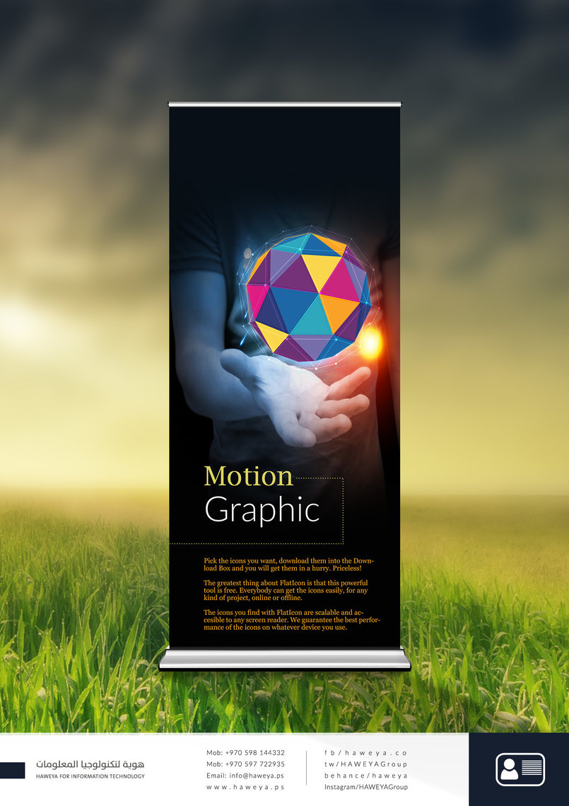 Motion Graphic Roll UP