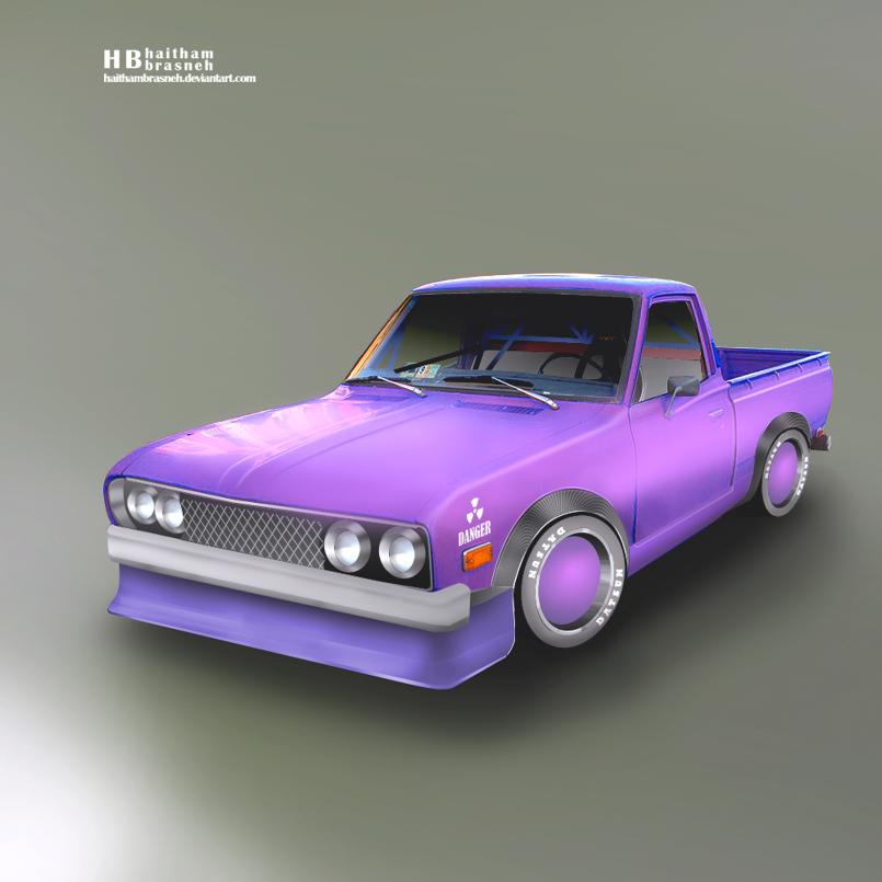 Datsun pickup drift