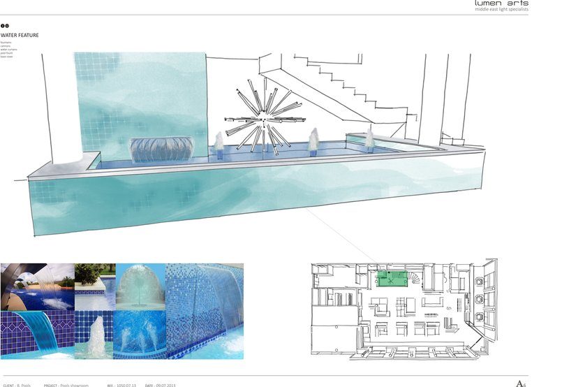 Pool showroom design