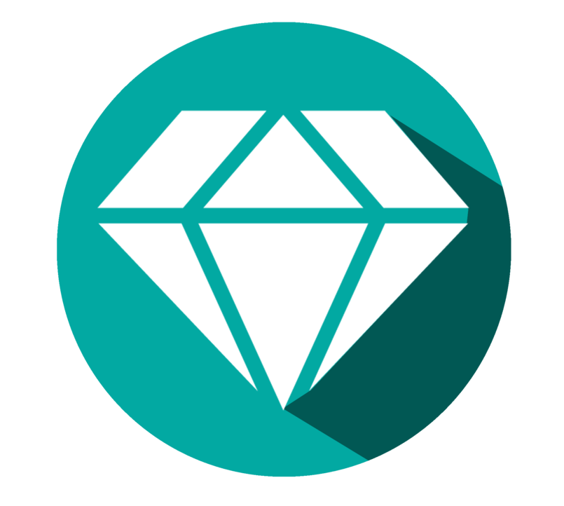 Diamonds - Flat Icon