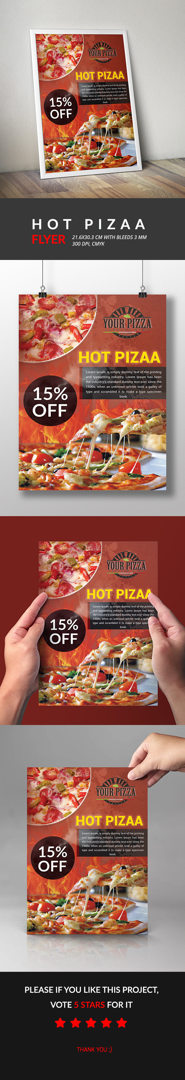 Hot Pizaa Flyer