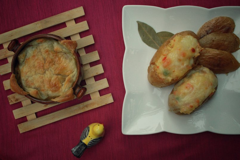 Filled potatoes