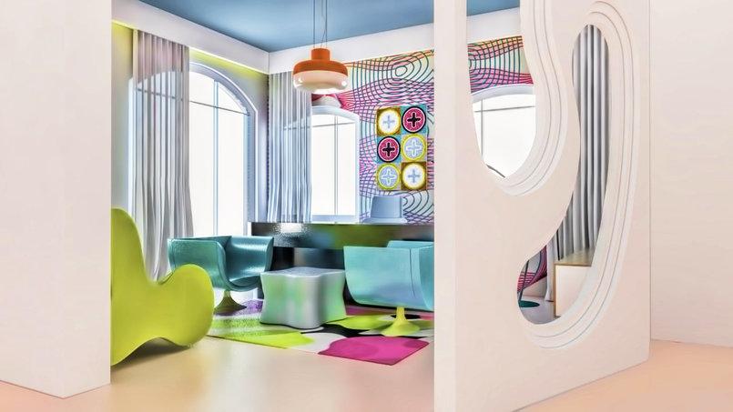 "Office Room "" Pop Style "" Kariem Rashid Style"