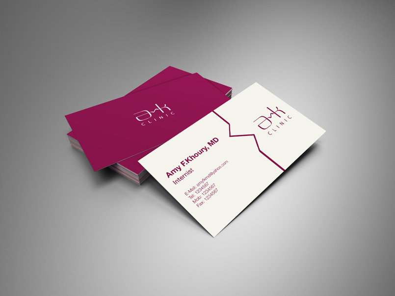 Dr. Amy Khoury logo and business card
