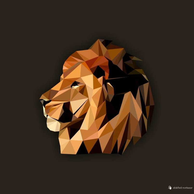 lowpoly lion