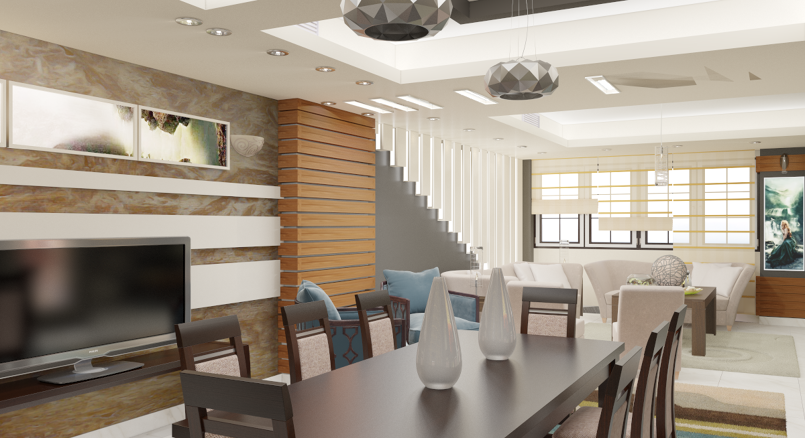 Reception & Dinning at residential apartment