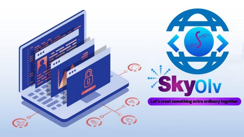 شعار شركه Skyolv للتسويق الإلكتروني