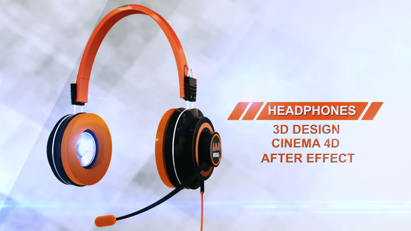 Headphone 3D Made By Cinema 4D and After Effect 2013