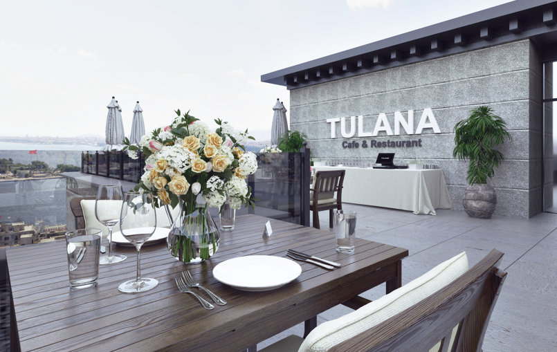 3D Exterior Rendering ( Tulana Restaurant ) in Istanbul