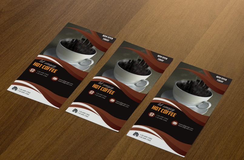Hot coffee brochure