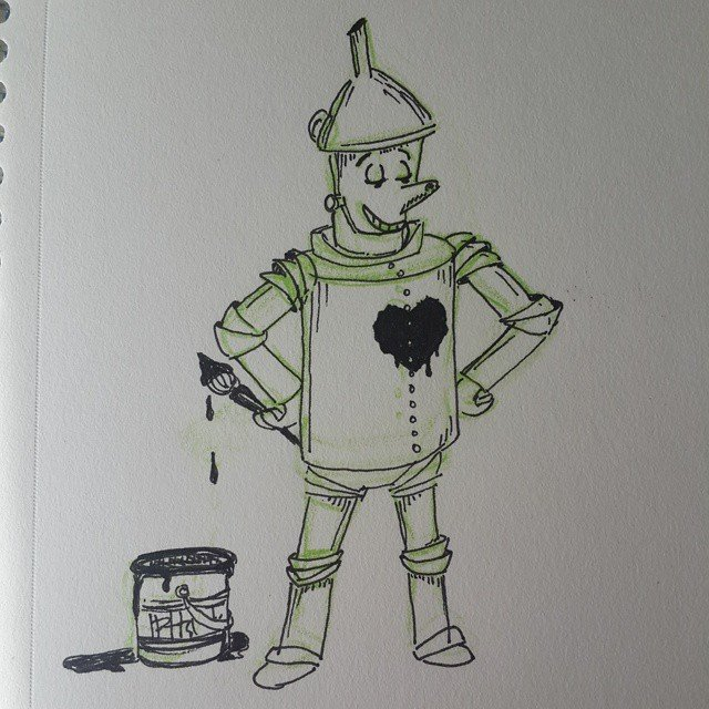 Tin man gives himself a heart