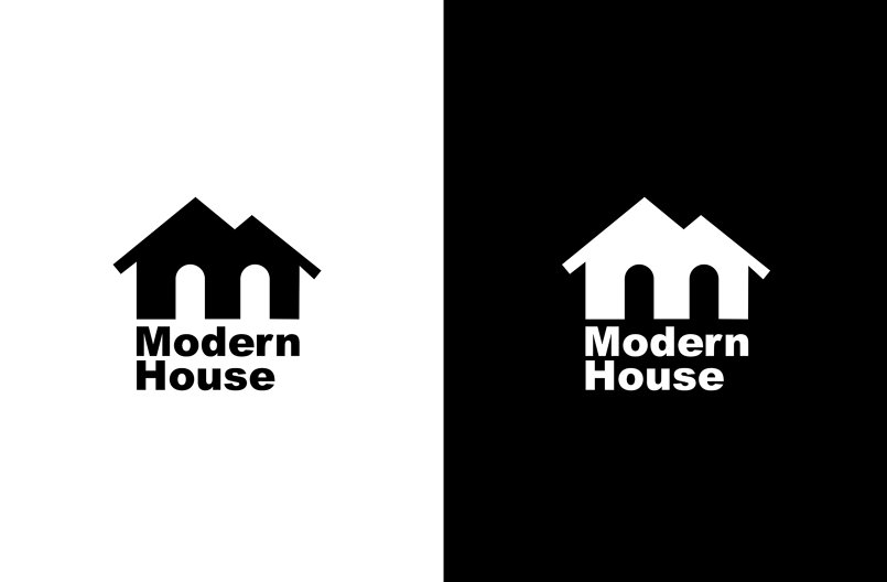 Modern house logo idea by ahmed farag rjx i586206 for Modern house logo