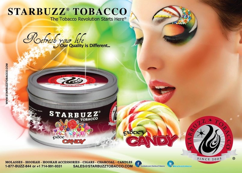 StarBuzz Tobacco Candy Poster