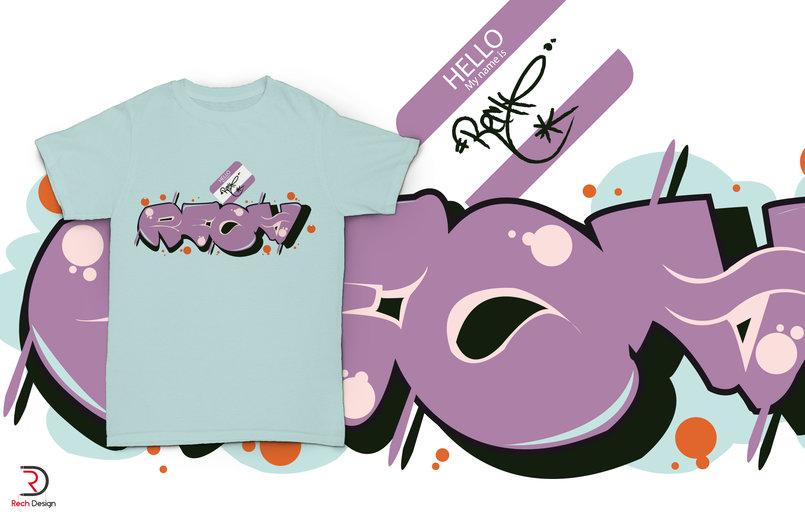 T-shirt Rech Graffiti