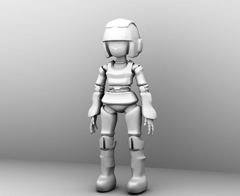 Android Girl - 3D Model