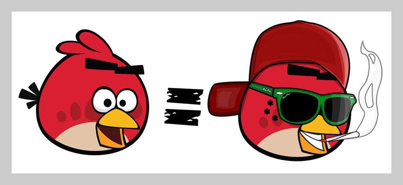 ـصميم T-Shirt عن Angry Birds.