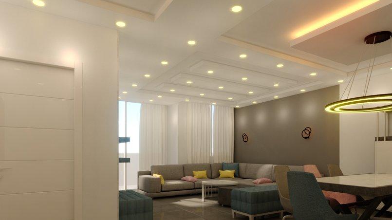 تصميم داخلي - غرفة جلوس -سفرة