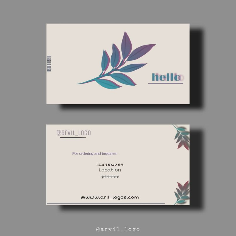 بطاقات عمل من تصميمي