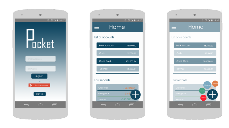 Pocket - UI/UX Design
