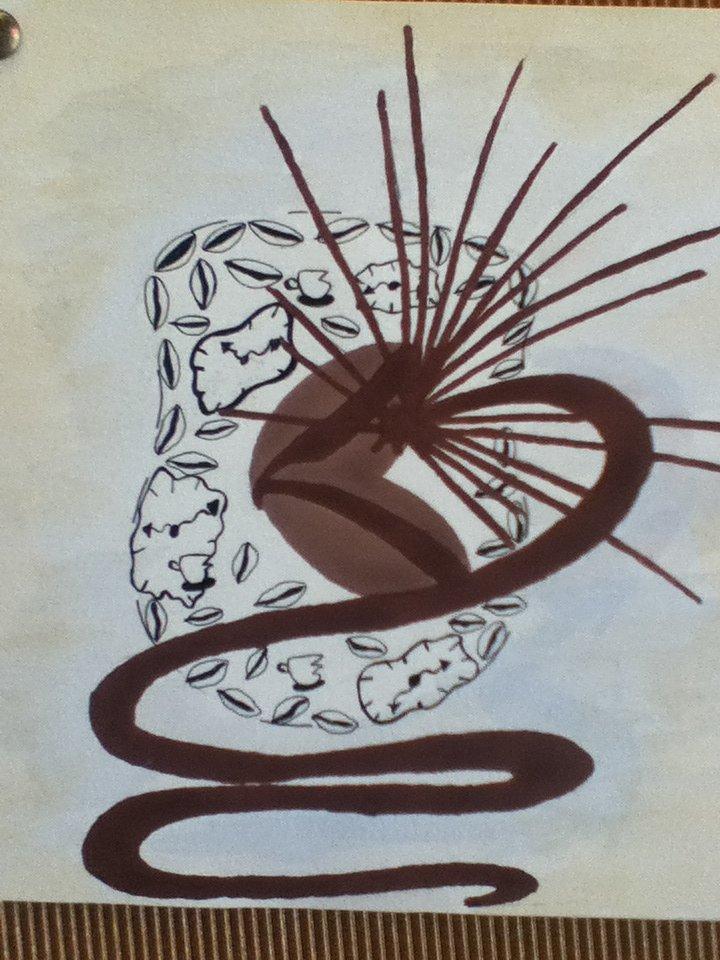 حالة الإنفجار التي تتولد لدي من الكبت المستمر فشبهت هذه الحالة بحبوب القهوة التي تتفجر داخل الكأس