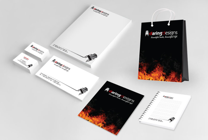 شعار وأعمال شركة Daring Design