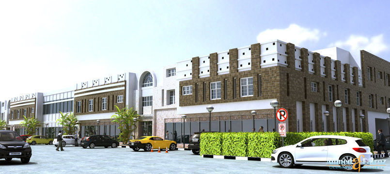 commercial center elevation-design -.ksa