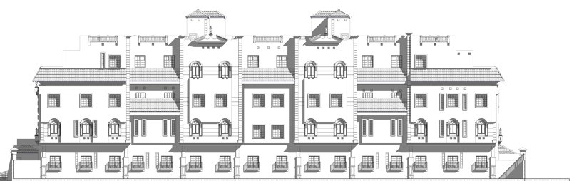 ...-Apartment complex design&presntation -all work bim revit&3dmax