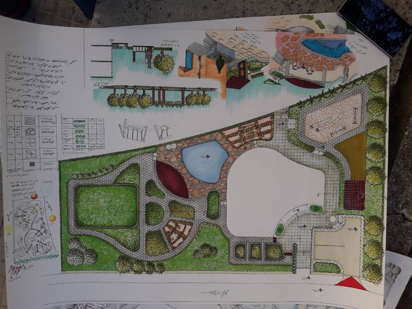 Designing a general site for a villa on the beachfront in Tartous Gove