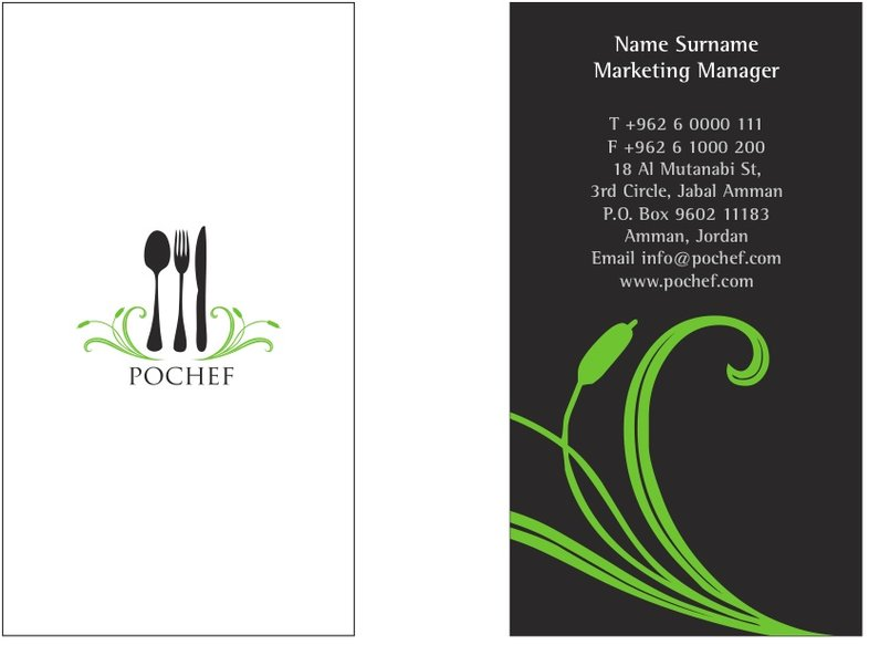 PoChef -business card layout