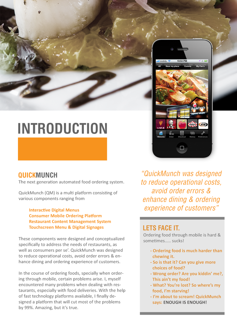 QuickMunch Mobile Client App