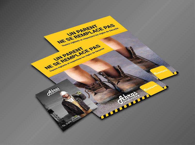 تصميم مذكرة خاصة لشركة سلامة. safety company