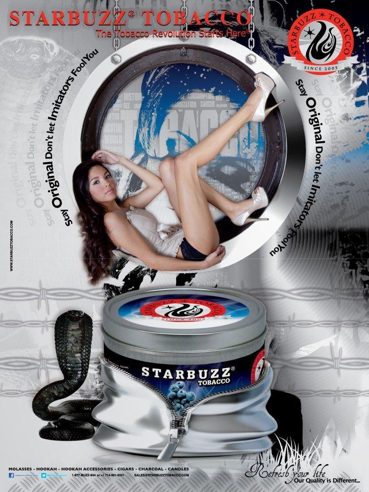 StarBuzz Tobacco Poster Blue Mist