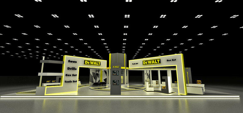 Exhibition Stand Design Course : Dewalt exhibition stands by faisal majdalawieh