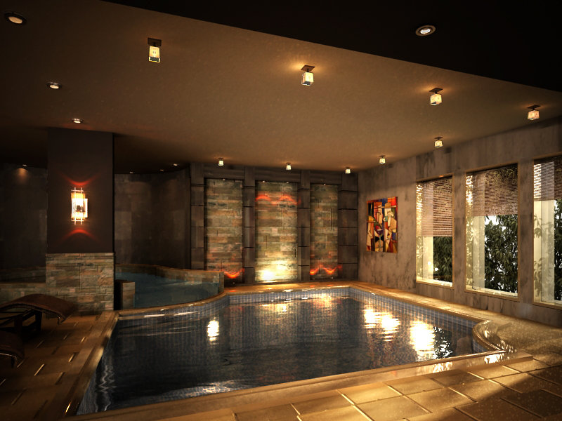 basement floor villa spa